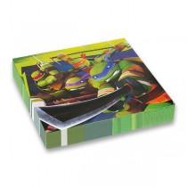 Papírové ubrousky Želvy Ninja 33 x 33 cm, 20 ks