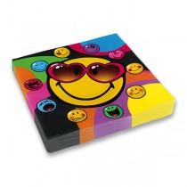 Papírové ubrousky Smiley 33 x 33 cm, 20 ks