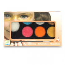 Barvy na obličej Djeco 6 barev, metalické