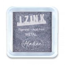 Razítkovací polštářek Aladine Izink metalický, stř. modř