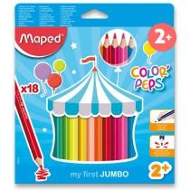 Pastelky Maped Color´Peps Jumbo 18 barev, trojhranné