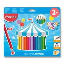 Pastelky Maped Color´Peps Jumbo 24 barev, trojhranné