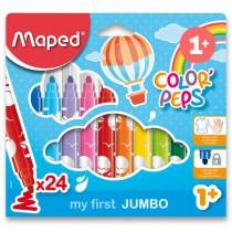 Dětské fixy Maped Color´Peps Jumbo 24 barev