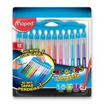 Dětské fixy Maped Color´Peps Long Life Innovation 12 barev