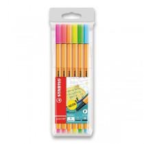 Liner Stabilo Point 88 sada 6 neonových barev