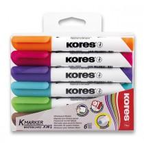 Popisovač Kores K-Marker Whiteboard sada 6 barev