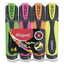 Zvýrazňovač Maped Fluo Peps Ultra Soft sada 4 barev