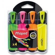 Zvýrazňovač Maped Fluo Peps Classic sada 4 barev