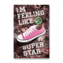 Záznamní kniha Premium Sneakers A4, linkovaná, 96 listů, mix motivů