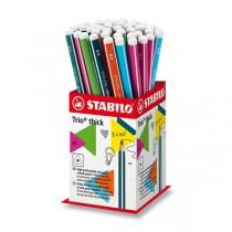 Pastelky Stabilo Trio Thick stojánek, 48 ks
