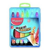 Gelové pastely Maped Color´Peps Smoothy 6 barev