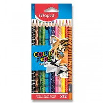 Pastelky Maped Color´Peps Animals 12 barev