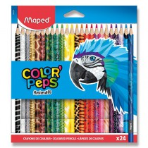 Pastelky Maped Color´Peps Animals 24 barev