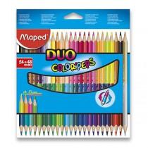 Pastelky Maped Color´Peps Duo oboustranné pastelky, 48 barev