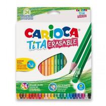 Pastelky Carioca Tita Erasable 24 barev
