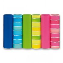 Dárkový balicí papír Fluo 2 x 0,7 m, mix motivů a barev