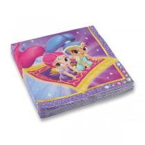 Papírové ubrousky Shimmer & Shine 33 x 33 cm, 20 ks