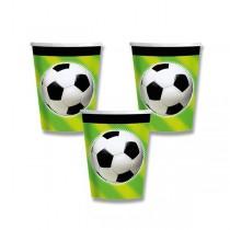 Papírové kelímky Fotbal objem 0,25 l, 8 ks