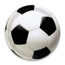 Papírové talířky Fotbal průměr 22,8 cm, 8 ks
