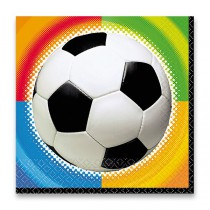 Papírové ubrousky Fotbal 33 x 33 cm, 16ks