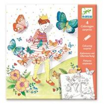 Omalovánky Djeco Pop-up Motýlí princezna