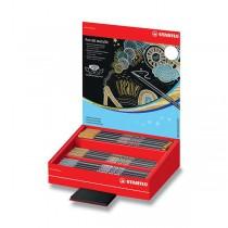 Fix Stabilo Pen 68 metallic stojánek, 60 ks