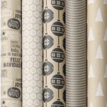 Dárkový balicí papír Cosy Black and White 2 x 0,7 m, mix motivů