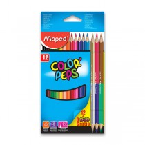 Pastelky Maped Color´Peps + 3 DUO 15 ks