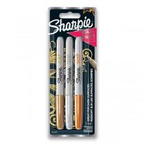 Permanentní popisovač Sharpie Fine sada 3 ks, metalické barvy