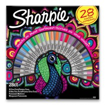 Permanentní popisovač Sharpie Fine + Ultra Fine sada 28 ks