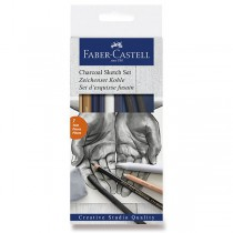 Umělecká sada Faber-Castell Goldfaber Charcoal Sketch sada 7 kusů