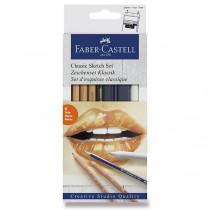 Umělecká sada Faber-Castell Goldfaber Classic Sketch sada 6 kusů