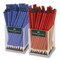 Grafitová tužka Faber-Castell Grip 2001 tvrdost B, stojánek, 144 ks
