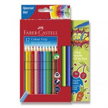 Pastelky Faber-Castell Grip 2001 12 barev + 2 fixy