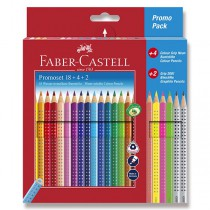 Pastelky Faber-Castell Grip 2001 22 barev + 2 grafitové tužky