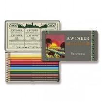 Pastelky Faber-Castell Polychromos 111 Years plechová krabička, 12 barev