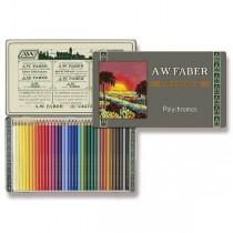 Pastelky Faber-Castell Polychromos 111 Years plechová krabička, 36 barev