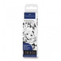 Popisovač Faber-Castell Pitt Artist Pen Manga 4 kusy, černé II