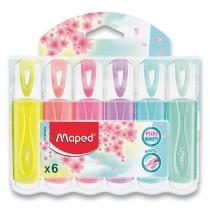 Zvýrazňovač Maped Fluo Peps Pastel 6 ks