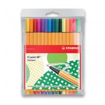 Liner Stabilo Point 88 sada 15 barev