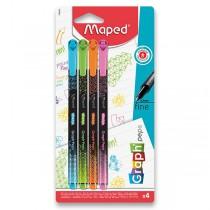 Liner Maped Graph´Peps Deco 4 ks, pastelové barvy