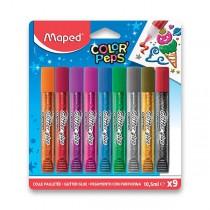Dekorační lepidlo Maped Glitter Glue 9 x 10,5 ml