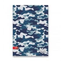 Školní sešit Military A4, linkovaný, 40 listů, mix motivů