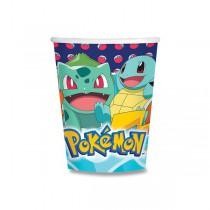 Papírové kelímky Pokémon objem 0,25 l, 8 ks