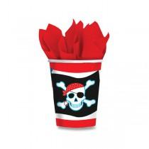 Papírové kelímky Pirate Party objem 0,25 l, 8 ks