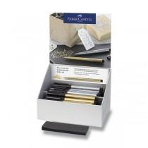 Popisovač Faber-Castell Pitt Artist Pen Brush Metallic stojánek