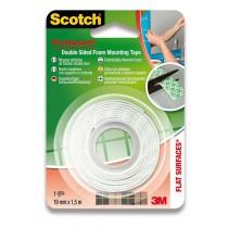 Oboustranná montážní páska 3M Scotch 19 mm × 1,5 m