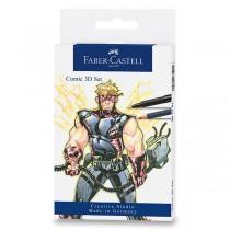 Popisovač Faber-Castell Comic 3D sada 11 ks