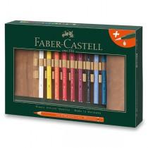 Akvarelové pastelky Faber-Castell Albrecht Dürer Magnus pouzdro, 18 barev