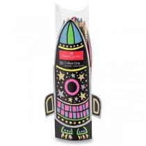 Pastelky Faber-Castell Grip 2001 dárková sada raketa, 10 ks